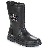 Sapatos Rapariga Botas Geox J GILLYJAW GIRL Preto