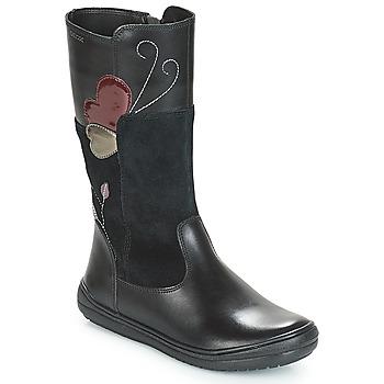 Sapatos Rapariga Botas Geox J HADRIEL Preto