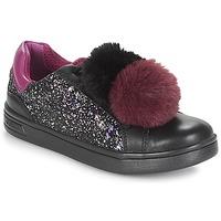 Sapatos Rapariga Sapatilhas Geox J DJROCK GIRL Preto / Violeta