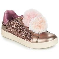 Sapatos Rapariga Sapatilhas Geox J DJROCK GIRL Bege / Rosa