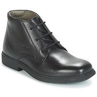 Sapatos Rapaz Botas baixas Geox JR FEDERICO Preto