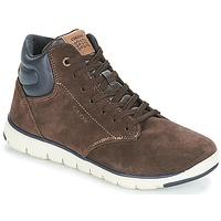 Sapatos Rapaz Sapatilhas de cano-alto Geox J XUNDAY BOY Castanho / Marinho
