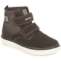 Sapatos Rapaz Sapatilhas de cano-alto Geox J RIDDOCK BOY Castanho / Marinho