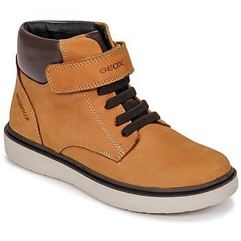 Sapatos Rapaz Sapatilhas de cano-alto Geox J RIDDOCK BOY WPF Amarelo