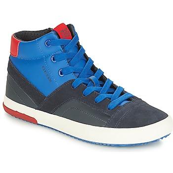 Sapatos Rapaz Sapatilhas de cano-alto Geox J ALONISSO BOY Marinho / Vermelho