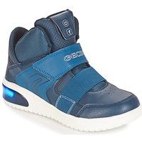 Sapatos Rapaz Sapatilhas Geox J XLED BOY Marinho