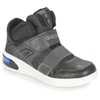 Sapatos Rapaz Sapatilhas de cano-alto Geox J XLED BOY Preto