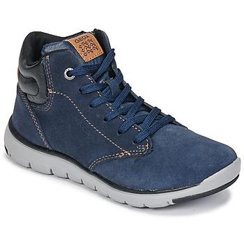 Sapatos Rapaz Sapatilhas de cano-alto Geox J XUNDAY BOY Marinho / Preto