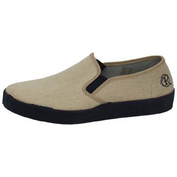 Sapatos Homem Slip on Oldroof  Bege