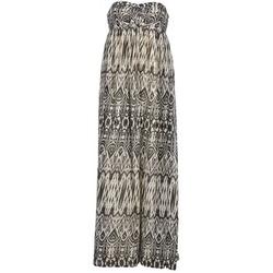 Textil Mulher Vestidos compridos Le Temps des Cerises GOTA Cinza / Branco