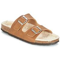 Sapatos Mulher Chinelos Casual Attitude JODRI Camel
