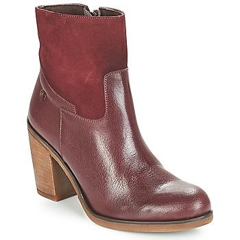 Sapatos Mulher Botins Casual Attitude WASRAH Maroon