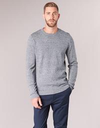Textil Homem camisolas Jack & Jones JJEBASIC Azul