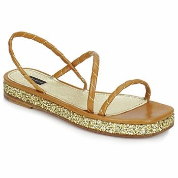 Sapatos Mulher Sandálias Marc Jacobs MJ16405 Castanho / Ouro