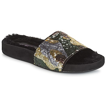 Sapatos Mulher Chinelos André ANTOINETTE Dourado
