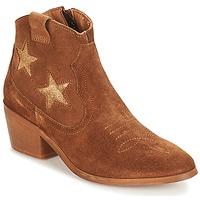 Sapatos Mulher Botas baixas André CELESTE Camel