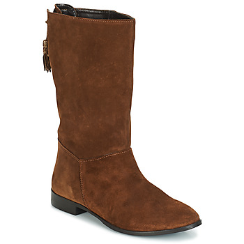 Sapatos Mulher Botas André LOULOUTE Camel
