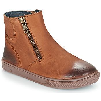 Sapatos Rapaz Botas baixas André CUMIN Castanho