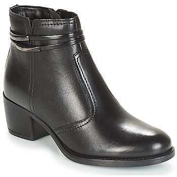 Sapatos Mulher Botas baixas André CALOTINE Preto