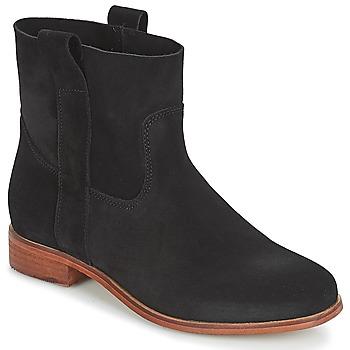Sapatos Mulher Botas baixas André TITAINE Preto