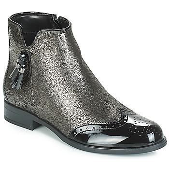 Sapatos Mulher Botas baixas André ALINA Bronze / Preto