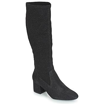 Sapatos Mulher Botas André FARFELUE Preto / Brilhante