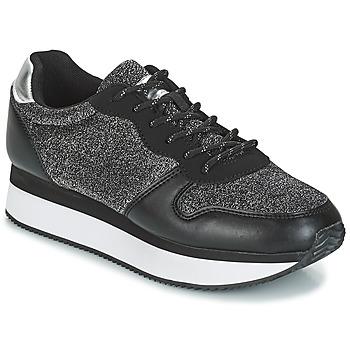 Sapatos Mulher Sapatilhas André TYPO Preto / Prata
