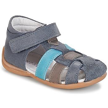 Sapatos Rapaz Sandálias André LES PRALINES Azul