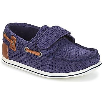 Sapatos Rapaz Sapato de vela André LES CAILLOUX Marinho
