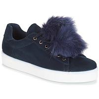 Sapatos Mulher Sapatilhas André POMPON Azul