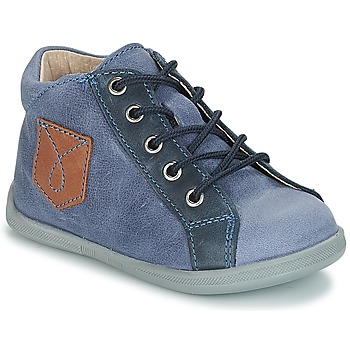 Sapatos Rapaz Botas baixas André POCHE Azul