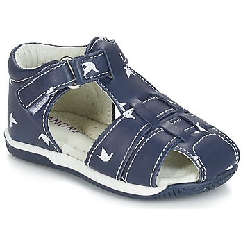 Sapatos Rapaz Sandálias André ORIGAMI Azul