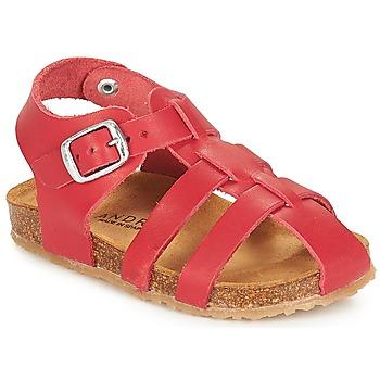 Sapatos Rapaz Sandálias André AVIRON Vermelho