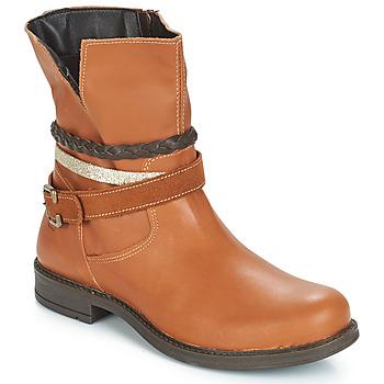 Sapatos Rapariga Botas baixas Citrouille et Compagnie FURAMO Camel