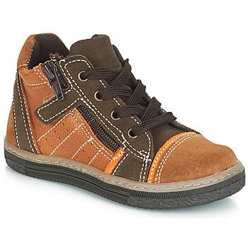Sapatos Rapaz Sapatilhas de cano-alto Citrouille et Compagnie JESSICA Camel