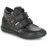 Sapatos Rapariga Sapatilhas Citrouille et Compagnie JUPETTE Preto / Flor