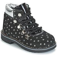 Sapatos Rapariga Botas baixas Citrouille et Compagnie JORDA Preto / Prateado