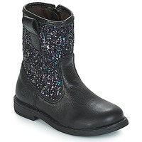 Sapatos Rapariga Botas baixas Citrouille et Compagnie JUCKER Preto / Brilhante