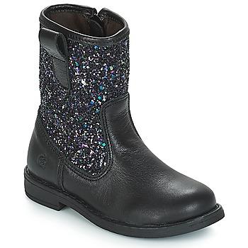 Sapatos Rapariga Botas Citrouille et Compagnie JUCKER Preto / Brilhante