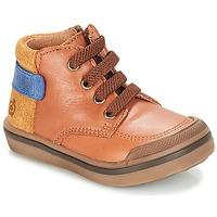 Sapatos Rapaz Botas baixas Citrouille et Compagnie JOUIZAE Camel / Amarelo