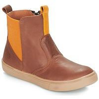 Sapatos Rapaz Botas baixas Citrouille et Compagnie JRYNE Camel / Amarelo