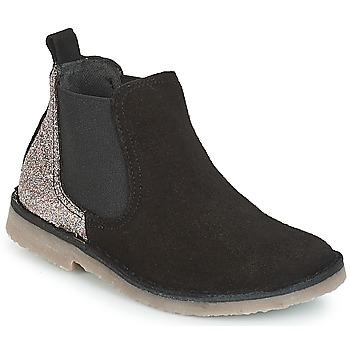 Sapatos Rapariga Botas baixas Citrouille et Compagnie FIGOULI Preto / Glitter