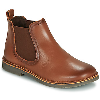 Sapatos Rapaz Botas baixas Citrouille et Compagnie JOVETTE Camel