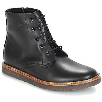 Sapatos Criança Botas baixas Citrouille et Compagnie JENKI Preto