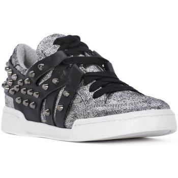 Sapatos Mulher Sapatilhas At Go GO MICROCRACK ARGENTO Grigio