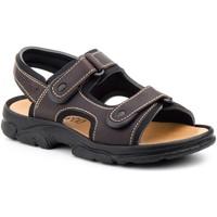 Sapatos Homem Sandálias Morxiva Shoes Sandalia de hombre de piel by Pepe Agullo Marrón