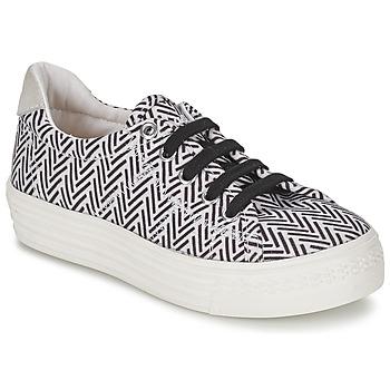 Sapatos Rapariga Sapatilhas Shwik STEP LO CUT Preto / Branco