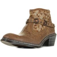 Sapatos Mulher Botas baixas Bunker Nely Jungle Camel Castanho