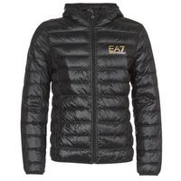 Textil Homem Quispos Emporio Armani EA7 TRAIN CORE ID M DOWN LIGHT Preto / Ouro