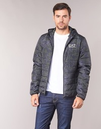 Textil Homem Quispos Emporio Armani EA7 TRAIN GRAPHIC SERIES M JACKET HOODIE ALL OVER CAMOU Cáqui / Azul